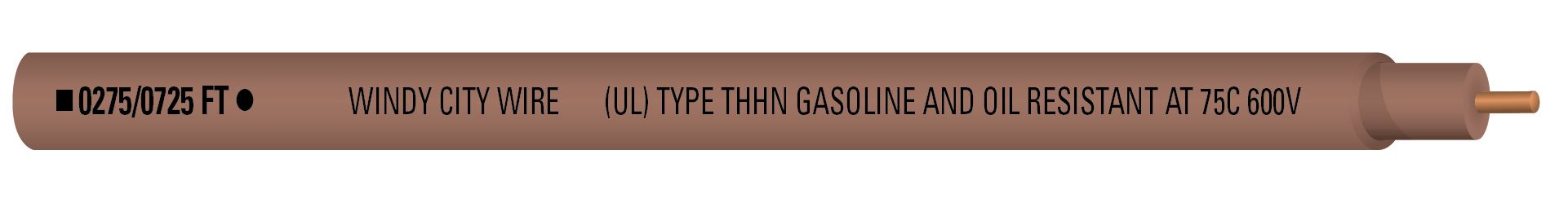 14-1C SOL THHN 600V Brn