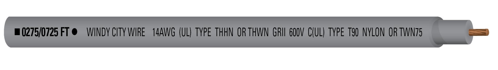14-1C STR THHN 600V Gry