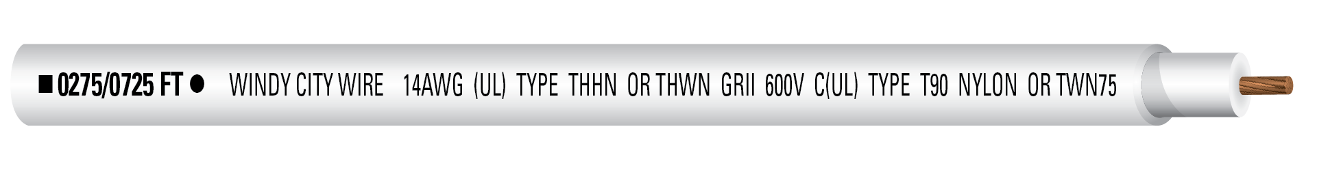 14-1C STR THHN 600V Wht