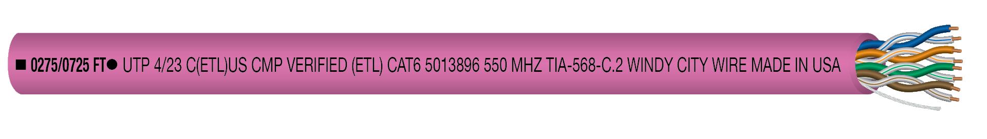 CAT6P-PNK