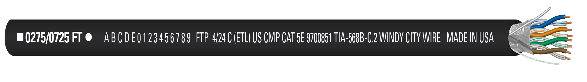 CAT5SP-BLK